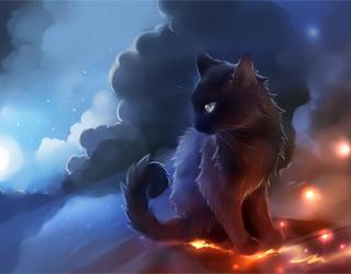 Кошка на небе